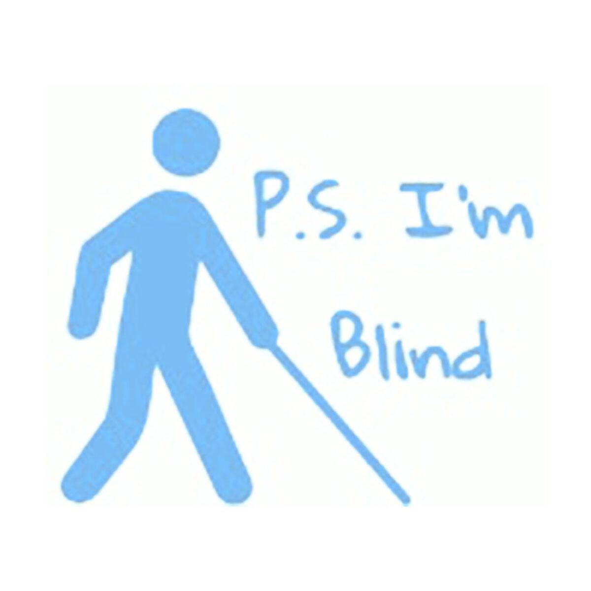 The P.S. I'm Blind logo